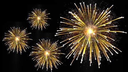 guy fawkes night: fuochi d'artificio d'oro con scintille