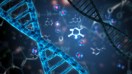 double helix dna abstract background