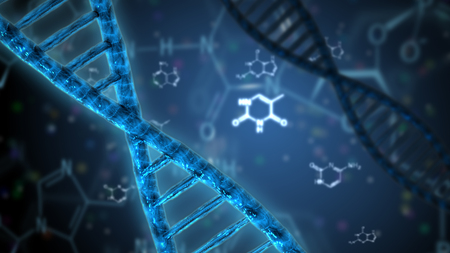 dna helix genetic science research