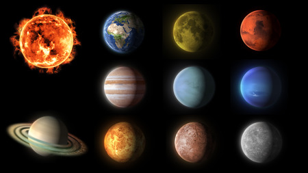 solar system planets collection