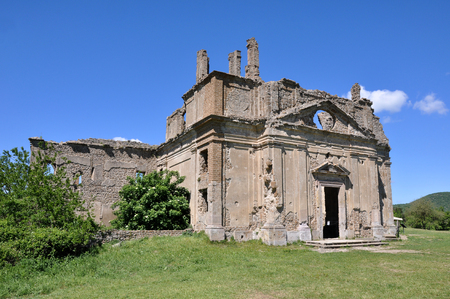 Ancient Church of San Bonaventura, Canale Monterano,  central Italian region of Lazio , ancient Latium