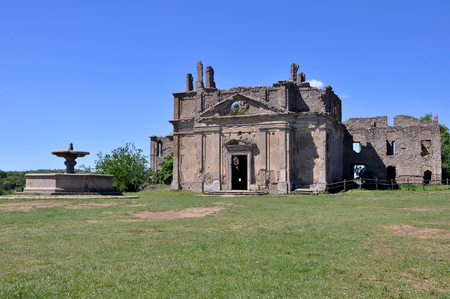 Ancient Church of San Bonaventura, Canale Monterano,  central Italian region of Lazio Ancient Latium Stock Photo