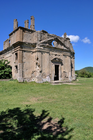 Ancient Church of San Bonaventura, Canale Monterano, Italy Stock Photo