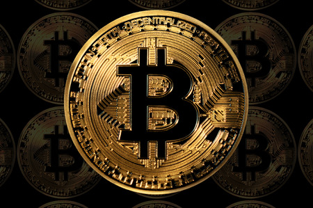 bitcoin digital currency decentralized technology, illustration
