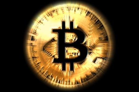 bitcoin gold coin symbol, illustration