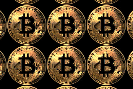 bitcoin gold coins digital currency abstract background illustration