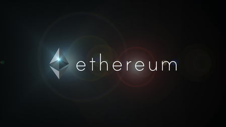 Ethereum crypto currency logo illustration. Ethereum is a decentralized platform that runs smart contracts based on security computer encryption concept for online banking
