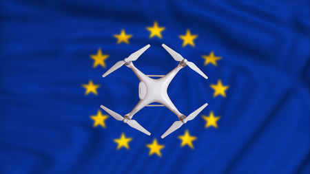 european rules for drone aerial aircraft law, proposal concept Stock Photo
