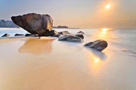 terengganu: teluk kalong sunrise Stock Photo