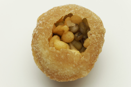 puri: Panipuri or Gol Gappa or Chaat Indian fast food Chaat Spices Fast Food South Asian delicacy PANI PURI