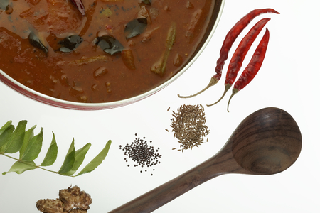 south india: Sambar  Spicy Lentils from South India.