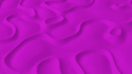 Abstract minimalistic background with pink noise wave field. Detailed displaced surface. Modern background template for documents, reports and presentations. Sci-Fi Futuristic. 3d rendering