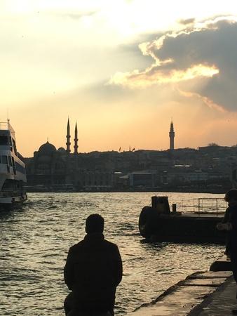 이스탄불, 터키의 일몰 스톡 콘텐츠