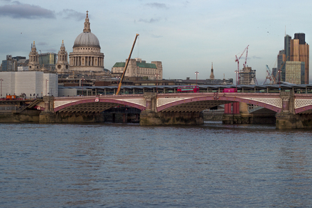 blackfriars bridge: Skyline of London with Blackfriars Bridge Editorial