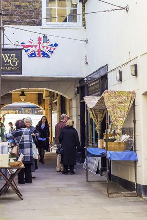 greenwich: People in Greenwich Market in London.