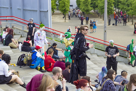excel: London, England - May 27, 2016: The MCM London Comic Con at ExCeL London in England, on the 27th of May 2016. Editorial