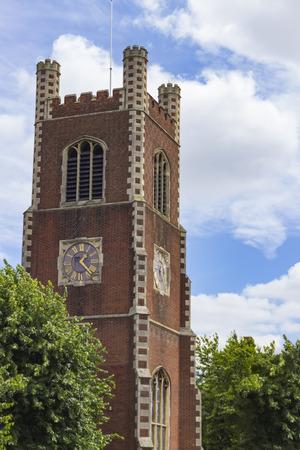 clocktower: The Church of Saint Paul in Cambridge, England.