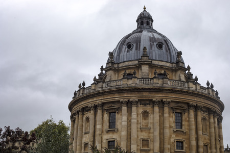 Oxford, United Kingdom - 3 September 2017: View of the majestuous dome of Brasenose College university in Oxford. Editorial