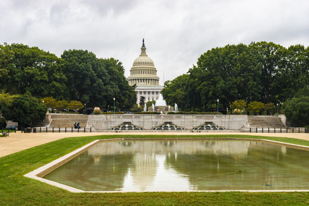 Washington DC, USA - October 12, 2017: View of the historical United States Capitol building in the city of Washington DC, USA. Editorial