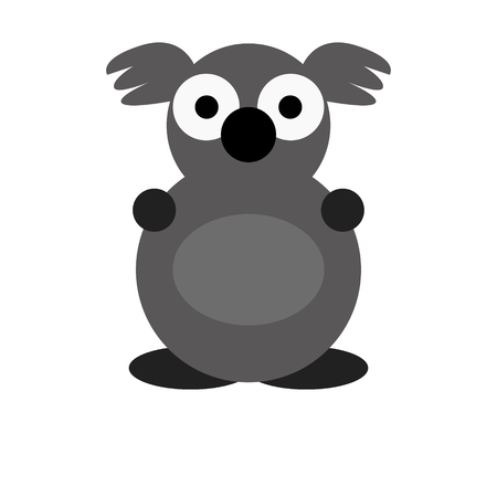 Koala vector illustration of a cute cartoon animal character for kids.