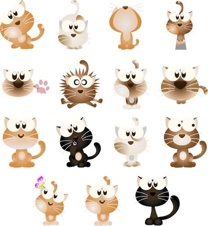 gato atigrado: Animales elementos de dise�o gr�fico de iconos y logotipos