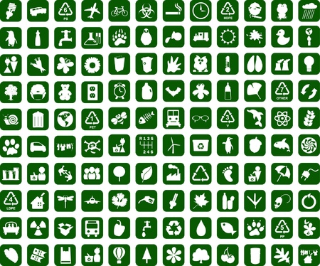 Recycling environment graphic design elements