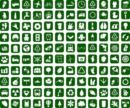 Recycling omgeving grafisch ontwerp elementen