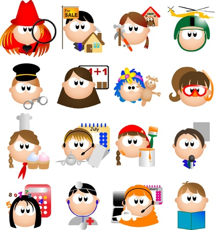 Occupation graphic design elements for icons and logos Ilustração
