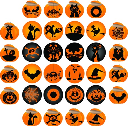 Halloween theme graphic elements for icons and logos Vector