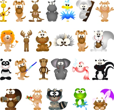 castoro: Animal elementi di design grafico per le icone e loghi
