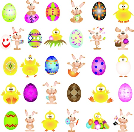 Easter graphic design elements for icons and logos