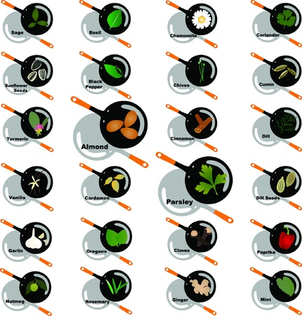Spice graphic design elements for icons and logos Vector