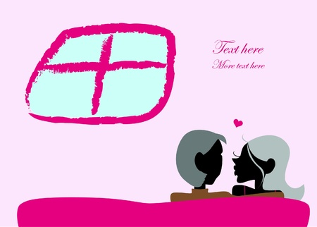 Valentine Day graphic design elements for cards and wallpaper