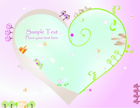 Valentine Day graphic design elements for cards and wallpaper Vector