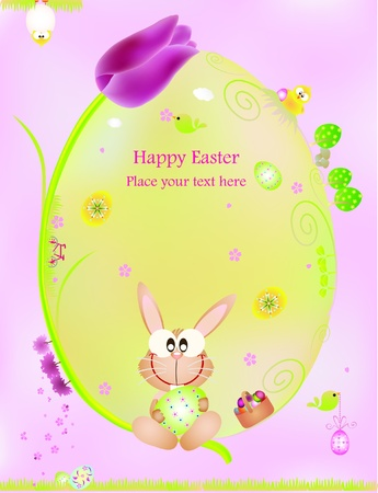 Easter graphic design elements for cards and wallpaper Illustration