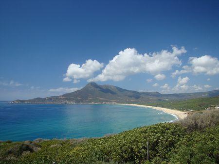 sardaigne: paysage de la c�te ouest de l'�le de Sardaigne, la mer M�diterran�e