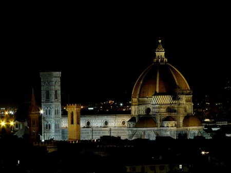 Panorama of Florence by night                            photo