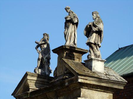 glorification:  figures of saints