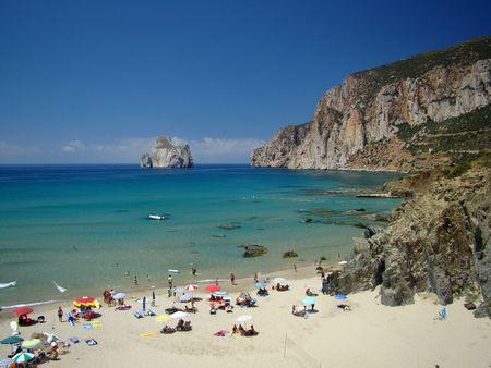 sardinia:         Beach Near Iglesias In Sardinia