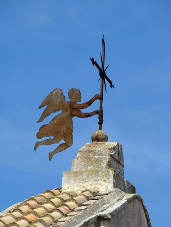 seraphic:     angel on roof of the church
