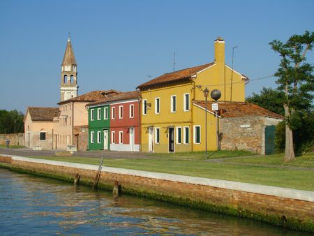 islet:        Mazzorbo islet,  by bridge  connected with Burano island          Stock Photo