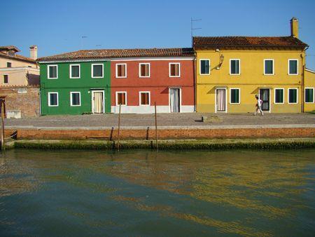 houses on Mazzorbo islet                 photo