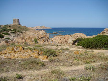 sentinel: sentinel, north coastline in Sardinia island , Italy