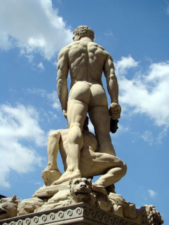 Hercules and Cacus representation on Piazza Signoria in Florence photo