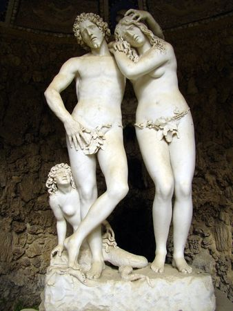 adam:            Adam and Eve in Florence                     Stock Photo