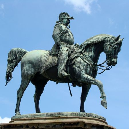 Monument to Vittorio Emanuele II in Florence, Cascine Garden                     photo