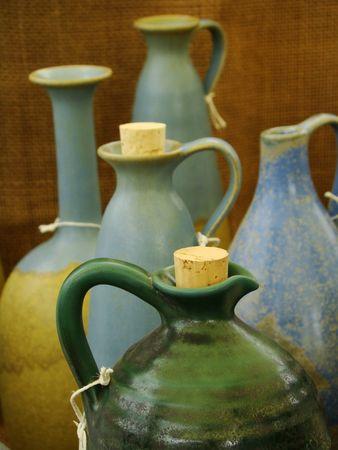 stoneware:   pottery still life Stock Photo