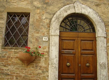 elegant italian entrance                                photo