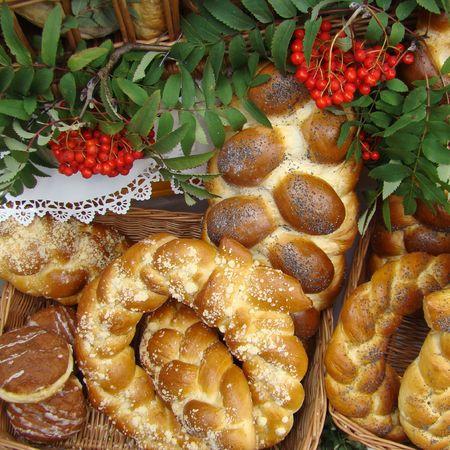 braided bakery, harvest festival occasion                                photo