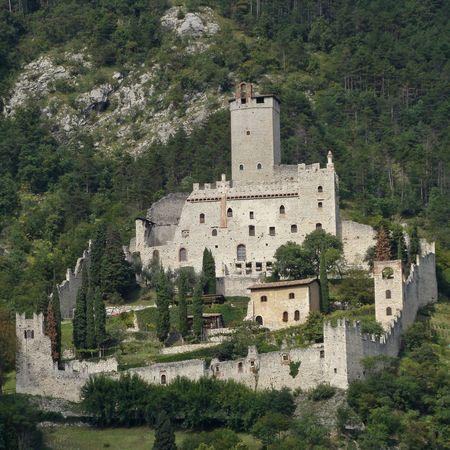evocative: evocative castle of Sabbionara dAvio, Trento, Italy